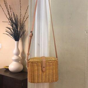 Wicker Basket Crossbody
